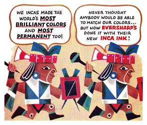 Inca Ink advertising
