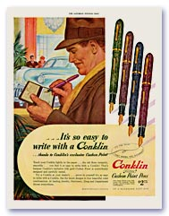 Conklin Glider Advertisement, 1946