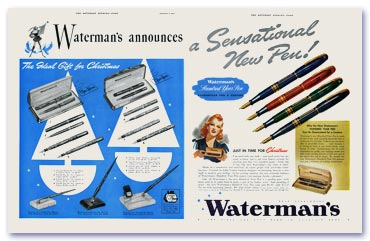 Waterman Advertisement, 1939